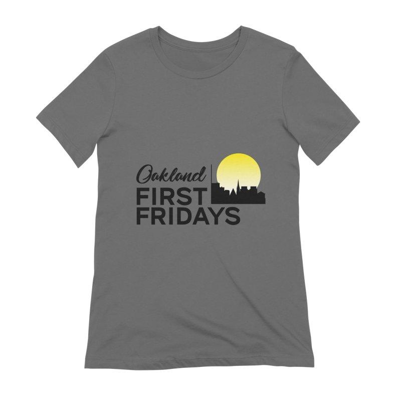 Oakland First Fridays (Text Logo) Women's T-Shirt by Oakland First Fridays Store