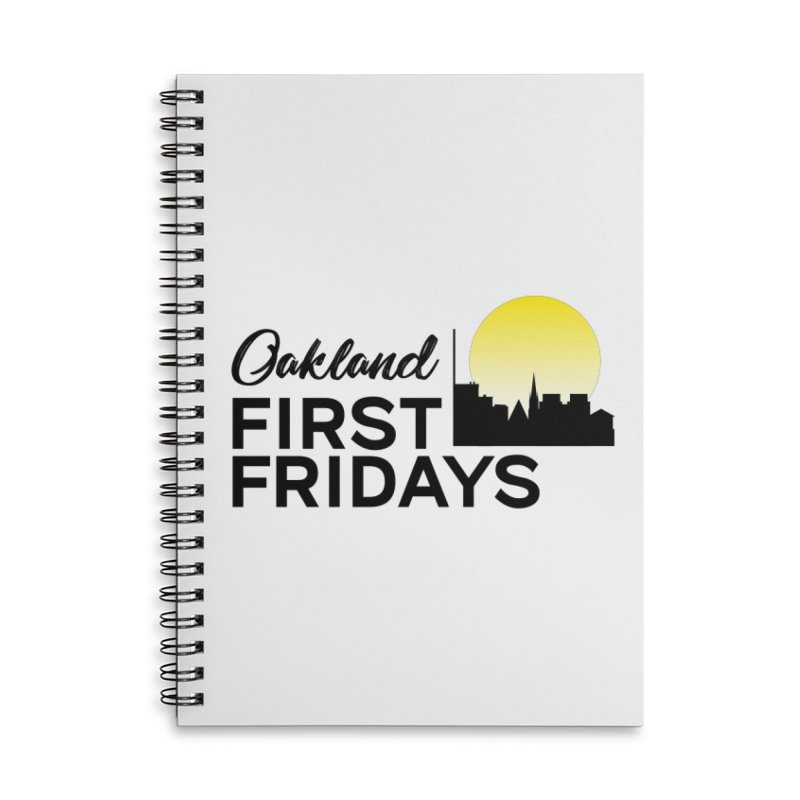 Oakland First Fridays (Text Logo) Accessories Notebook by Oakland First Fridays Store
