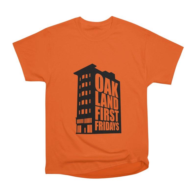 Oakland First Fridays (Building Logo Blk) Men's T-Shirt by Oakland First Fridays Store
