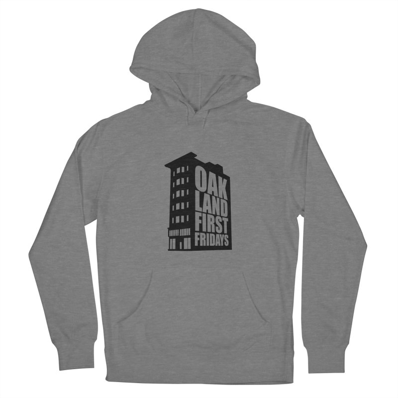 Oakland First Fridays (Building Logo Blk) Women's Pullover Hoody by Oakland First Fridays Store