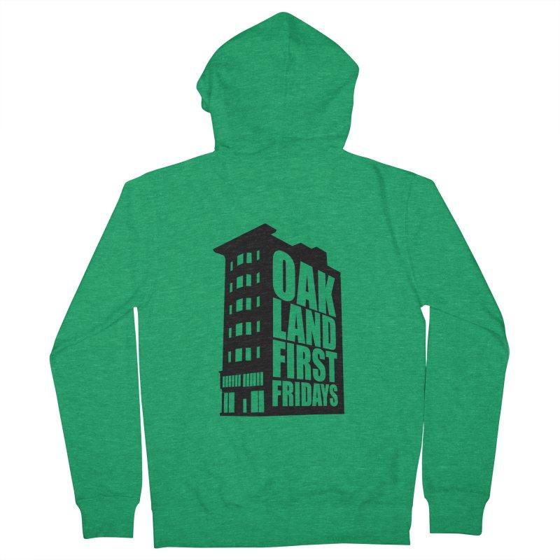 Oakland First Fridays (Building Logo Blk) Women's Zip-Up Hoody by Oakland First Fridays Store