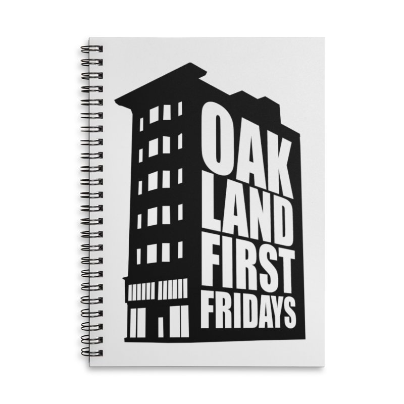 Oakland First Fridays (Building Logo Blk) Accessories Notebook by Oakland First Fridays Store