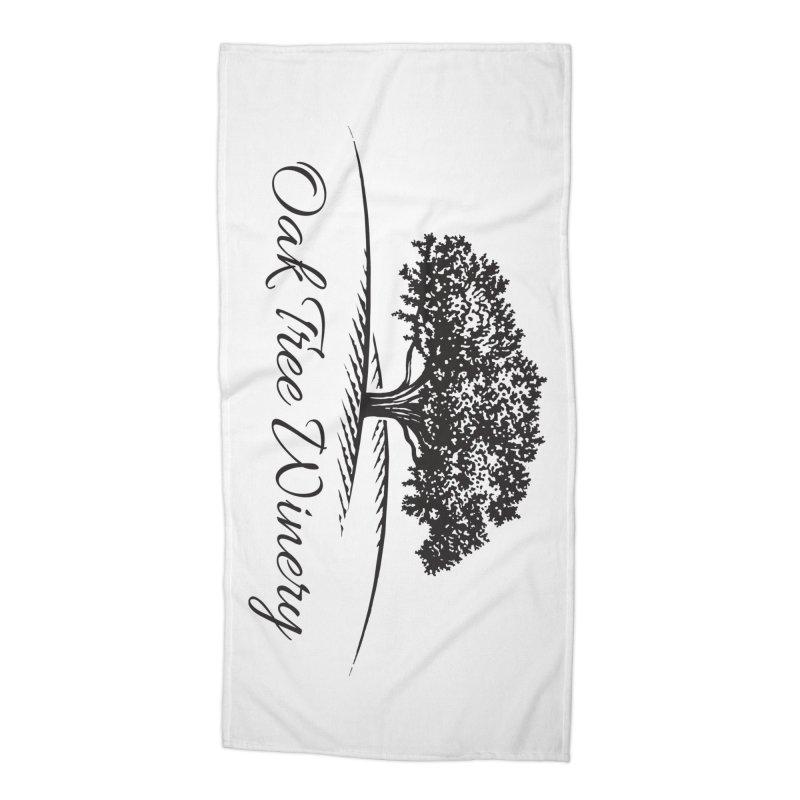 Oak Tree Winery Black Label Accessories Beach Towel by Oak Tree Winery's Shop
