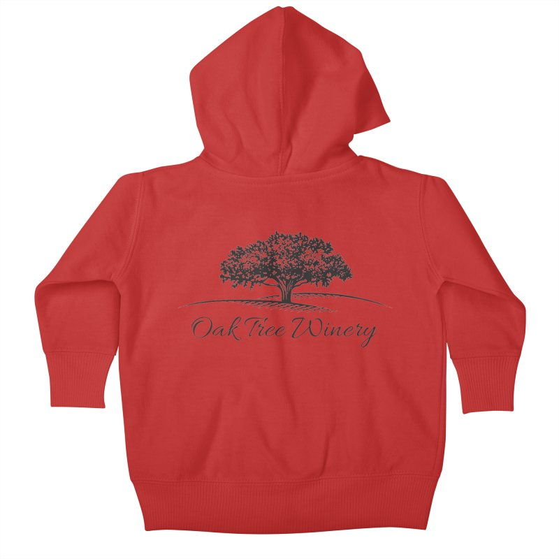 Oak Tree Winery Black Label Kids Baby Zip-Up Hoody by Oak Tree Winery's Shop