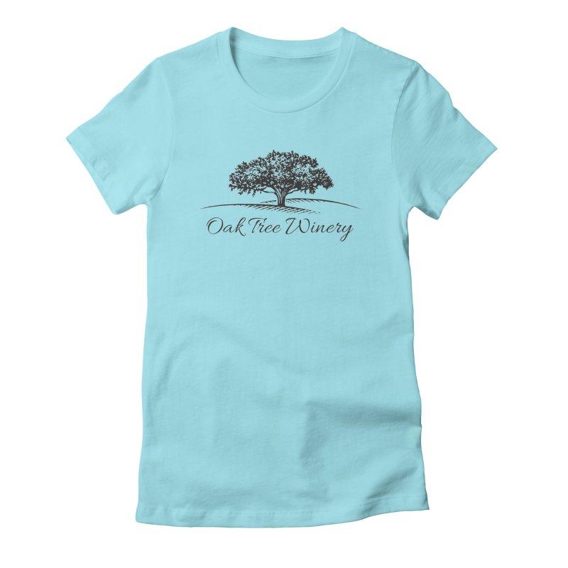 Oak Tree Winery Black Label Women's Fitted T-Shirt by Oak Tree Winery's Shop