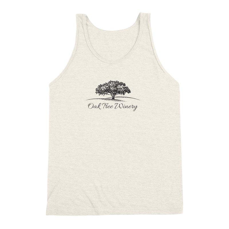 Oak Tree Winery Black Label Men's Triblend Tank by Oak Tree Winery's Shop