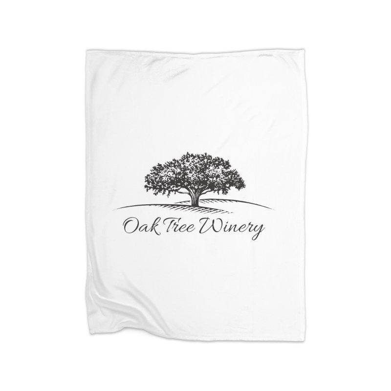 Oak Tree Winery Black Label Home Fleece Blanket Blanket by Oak Tree Winery's Shop
