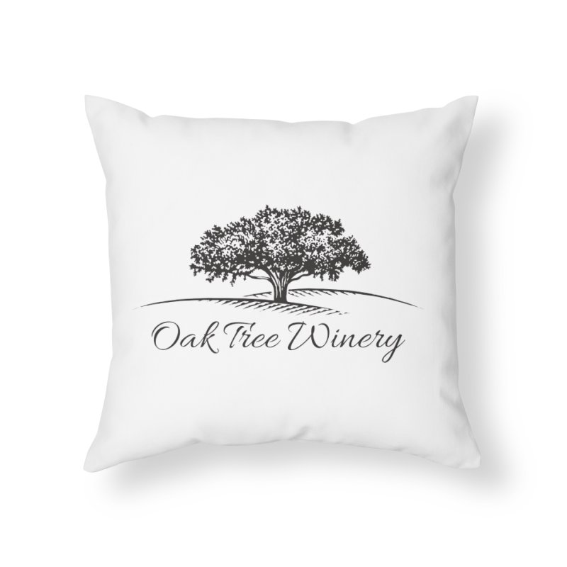 Oak Tree Winery Black Label Home Throw Pillow by Oak Tree Winery's Shop