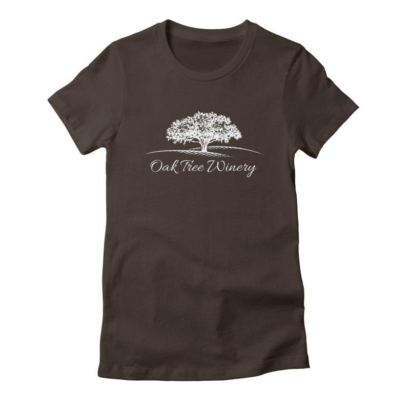 Oak Tree Winery White Label Women's Fitted T-Shirt by Oak Tree Winery's Shop