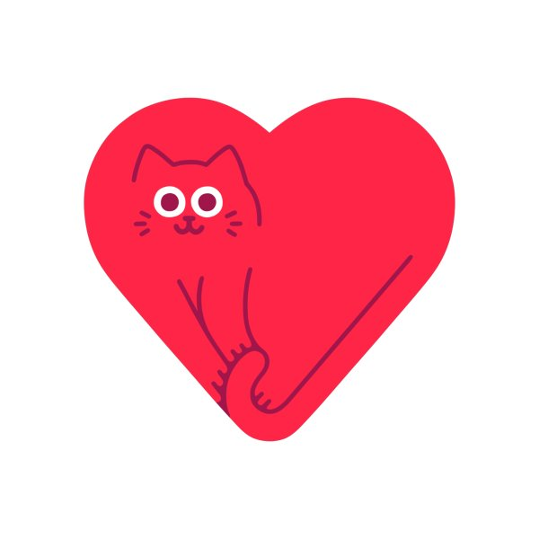 image for Cute Cat Heart