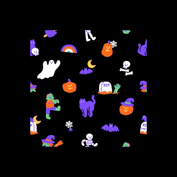 image for Haunted Halloween Friends Pattern