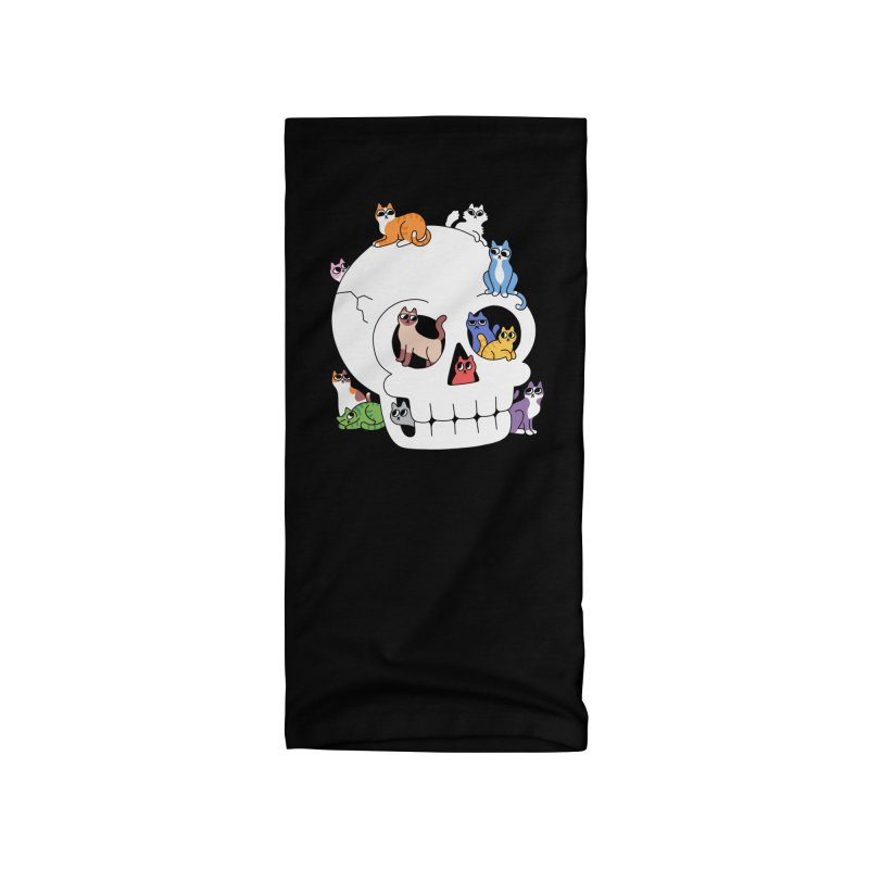 Skull is Full of Cats Accessories Neck Gaiter by obinsun