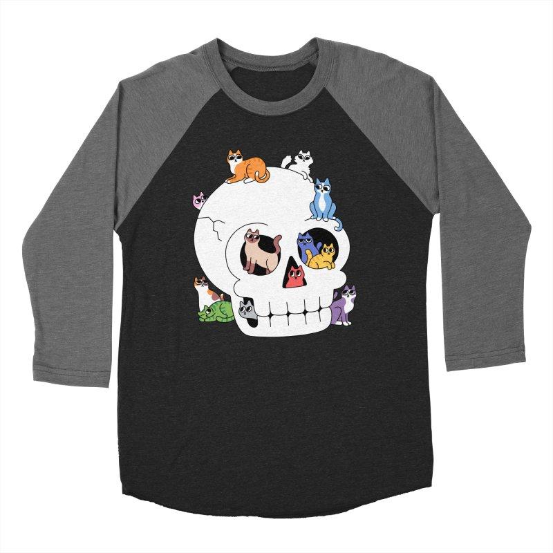 Skull is Full of Cats Women's Longsleeve T-Shirt by obinsun