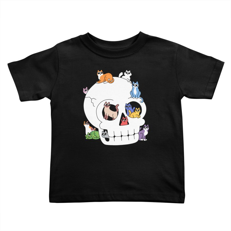 Skull is Full of Cats Kids Toddler T-Shirt by obinsun