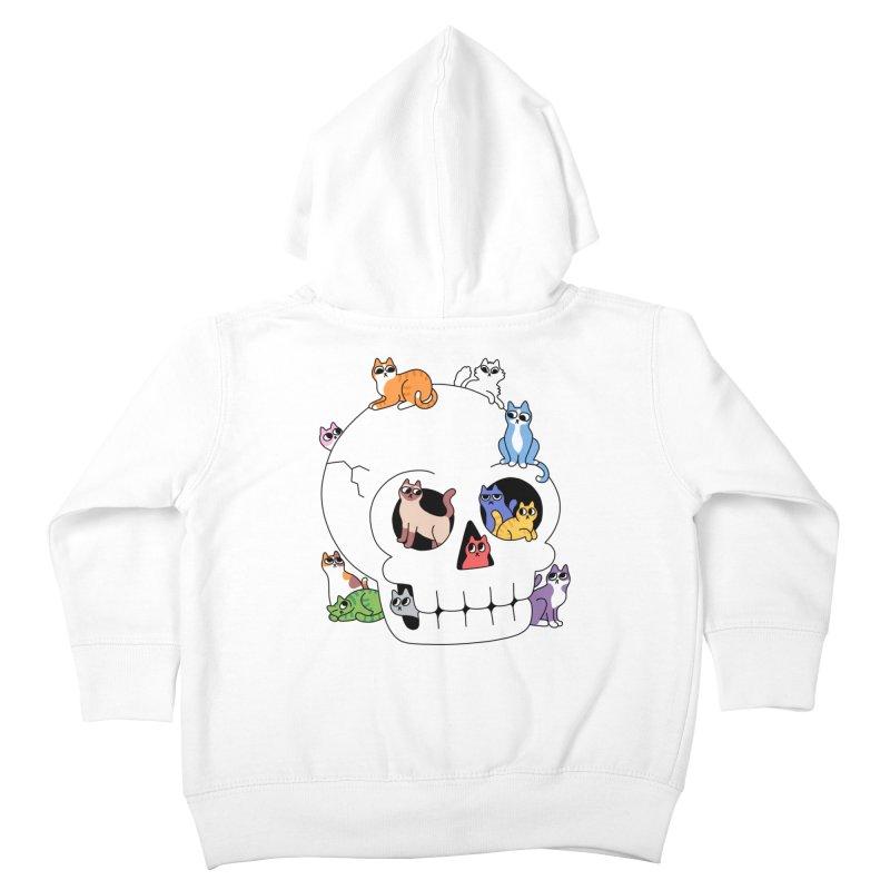 Skull is Full of Cats Kids Toddler Zip-Up Hoody by obinsun