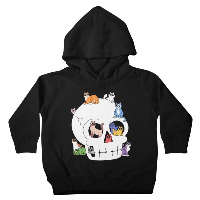 Skull is Full of Cats Kids Toddler Pullover Hoody by obinsun