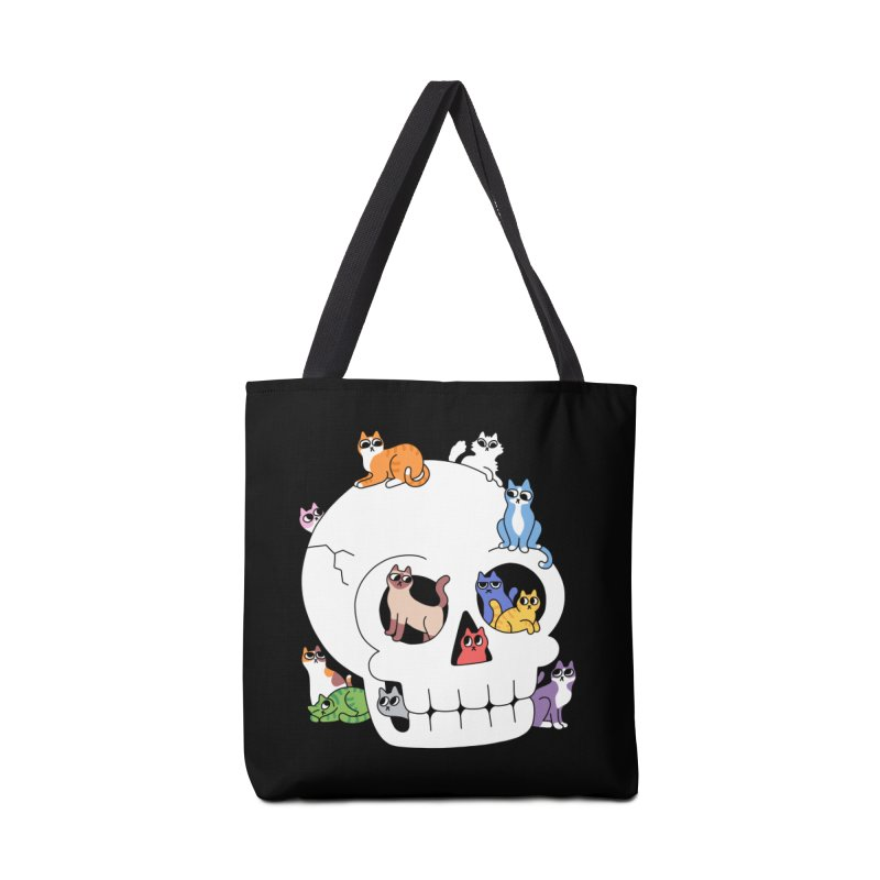 Skull is Full of Cats Accessories Bag by obinsun