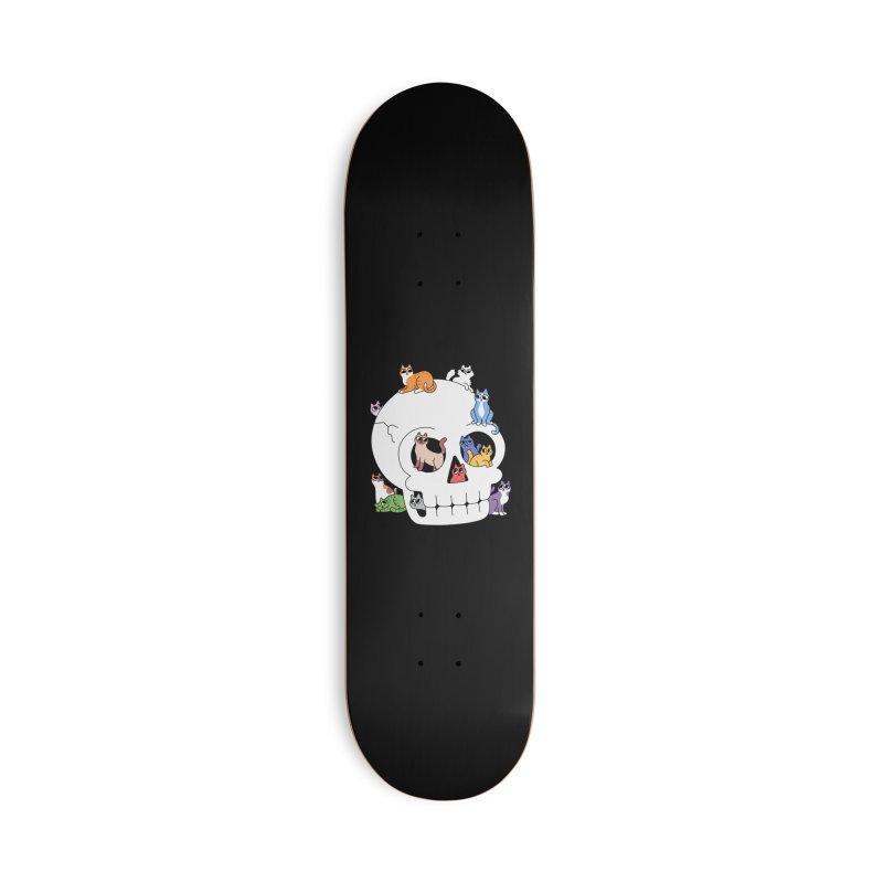Skull is Full of Cats Accessories Skateboard by obinsun