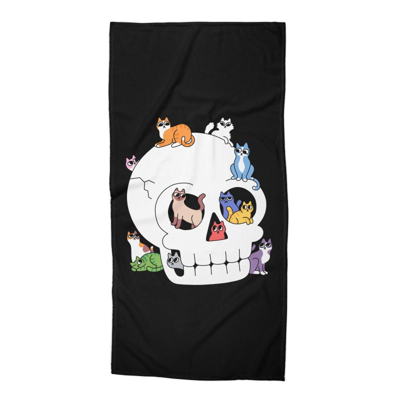 Skull is Full of Cats Accessories Beach Towel by obinsun