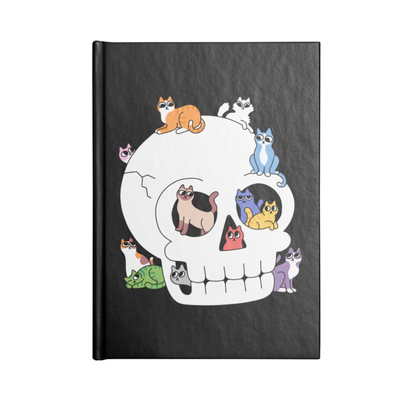 Skull is Full of Cats Accessories Notebook by obinsun