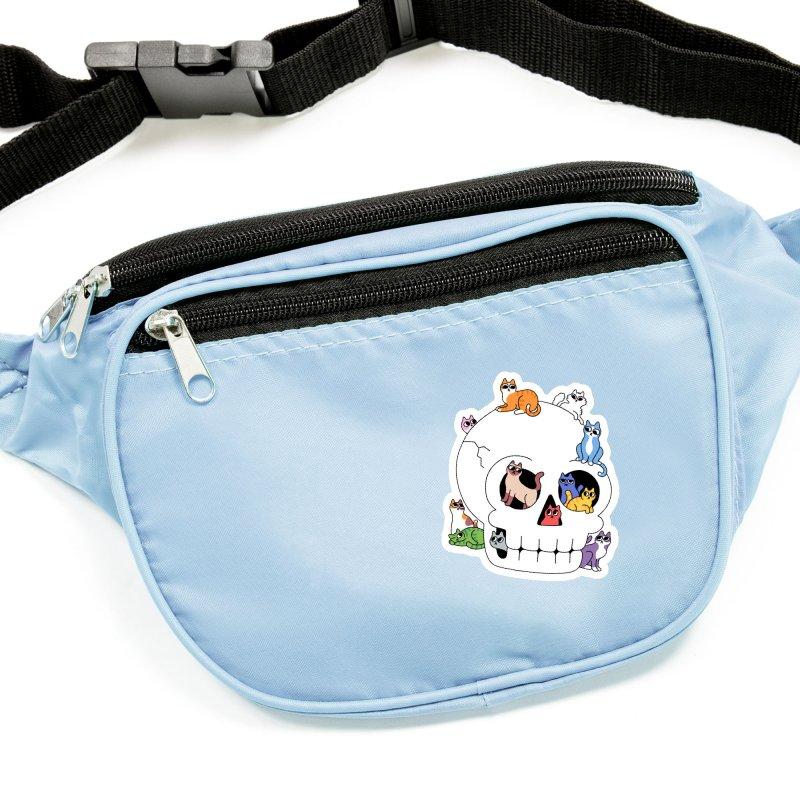 Skull is Full of Cats Accessories Sticker by obinsun