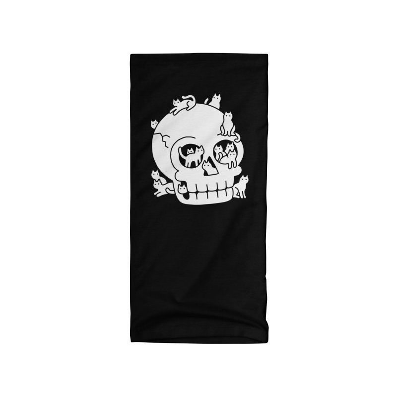 Skull is Full of Cats Doodle Accessories Neck Gaiter by obinsun