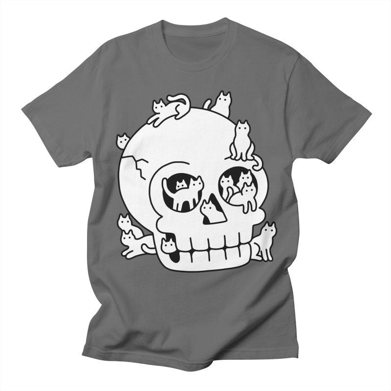Skull is Full of Cats Doodle Men's T-Shirt by obinsun