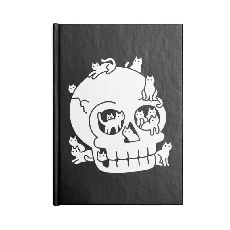Skull is Full of Cats Doodle Accessories Notebook by obinsun