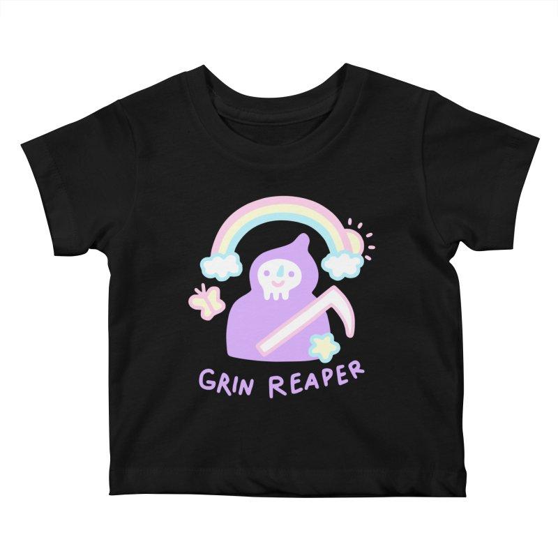 Grin Reaper Kids Baby T-Shirt by obinsun