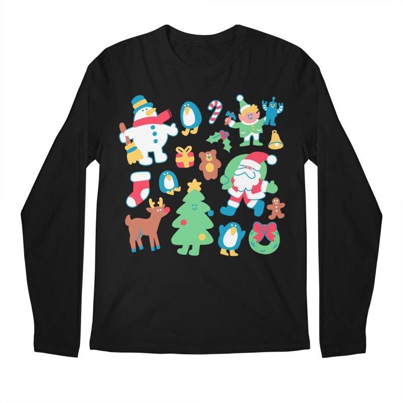 Christmas Friends Men's Longsleeve T-Shirt by obinsun