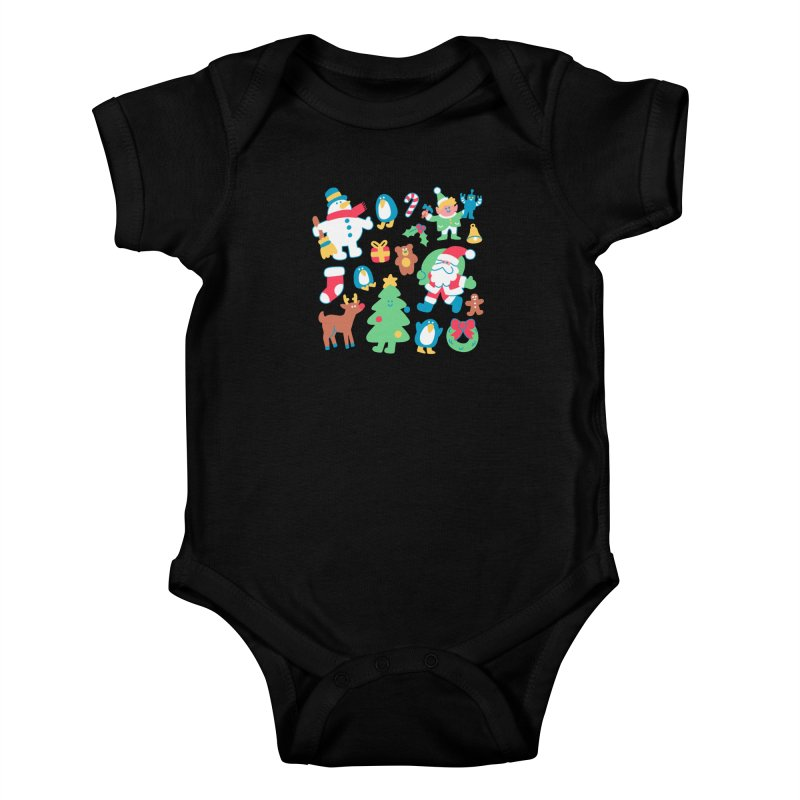 Christmas Friends Kids Baby Bodysuit by obinsun