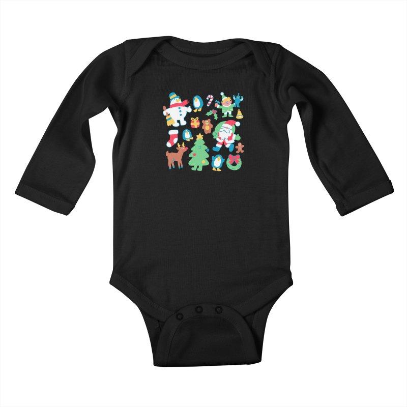 Christmas Friends Kids Baby Longsleeve Bodysuit by obinsun