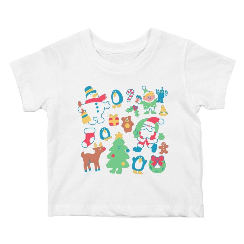 Christmas Friends Kids Baby T-Shirt by obinsun