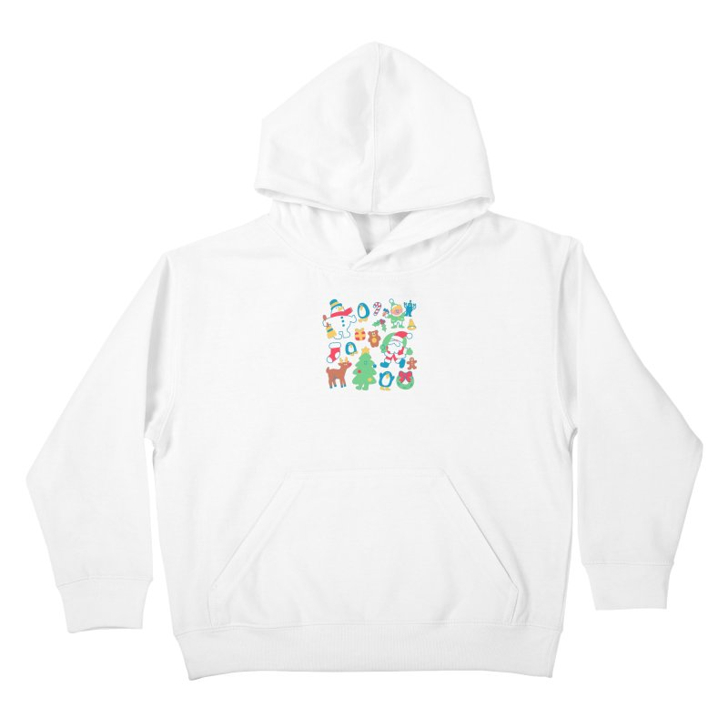 Christmas Friends Kids Pullover Hoody by obinsun