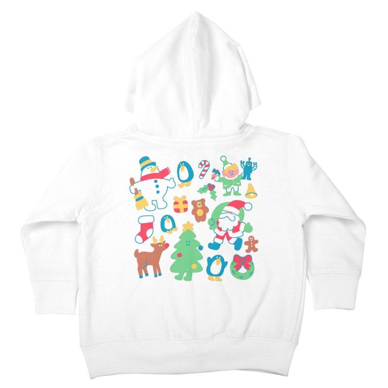 Christmas Friends Kids Toddler Zip-Up Hoody by obinsun