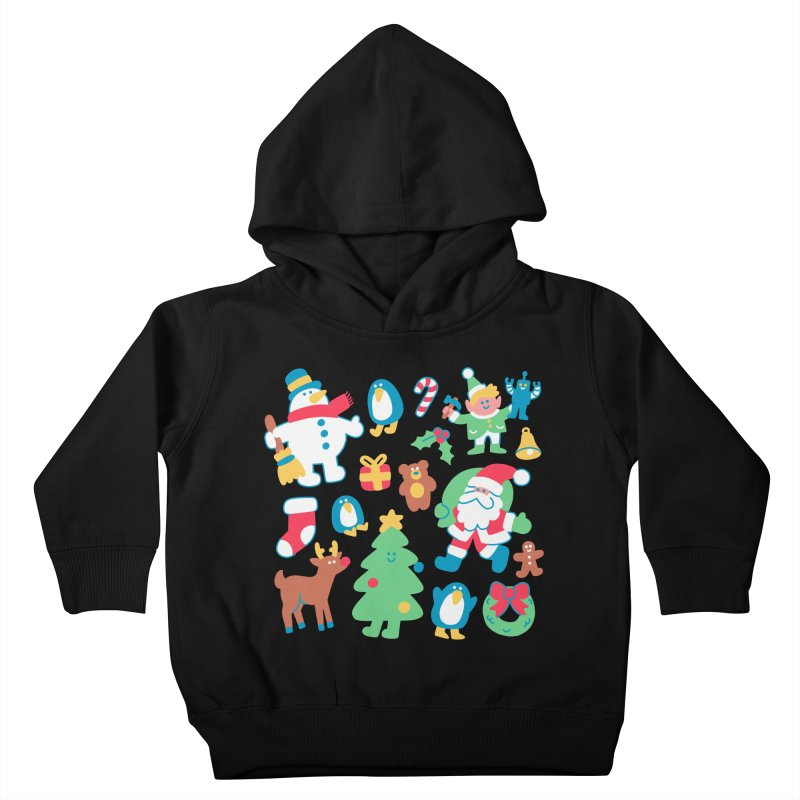 Christmas Friends Kids Toddler Pullover Hoody by obinsun