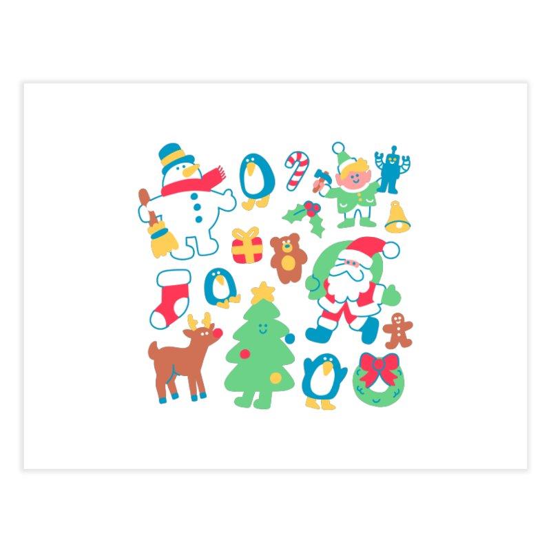 Christmas Friends Home Fine Art Print by obinsun