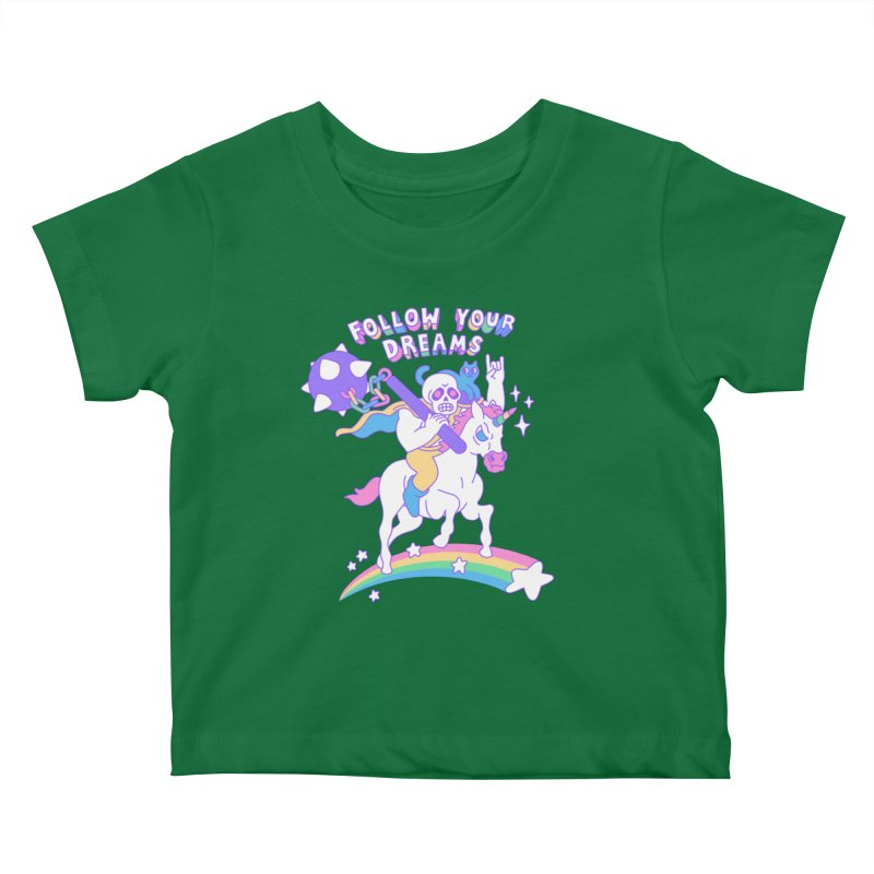 Follow Your Dreams Kids Baby T-Shirt by obinsun