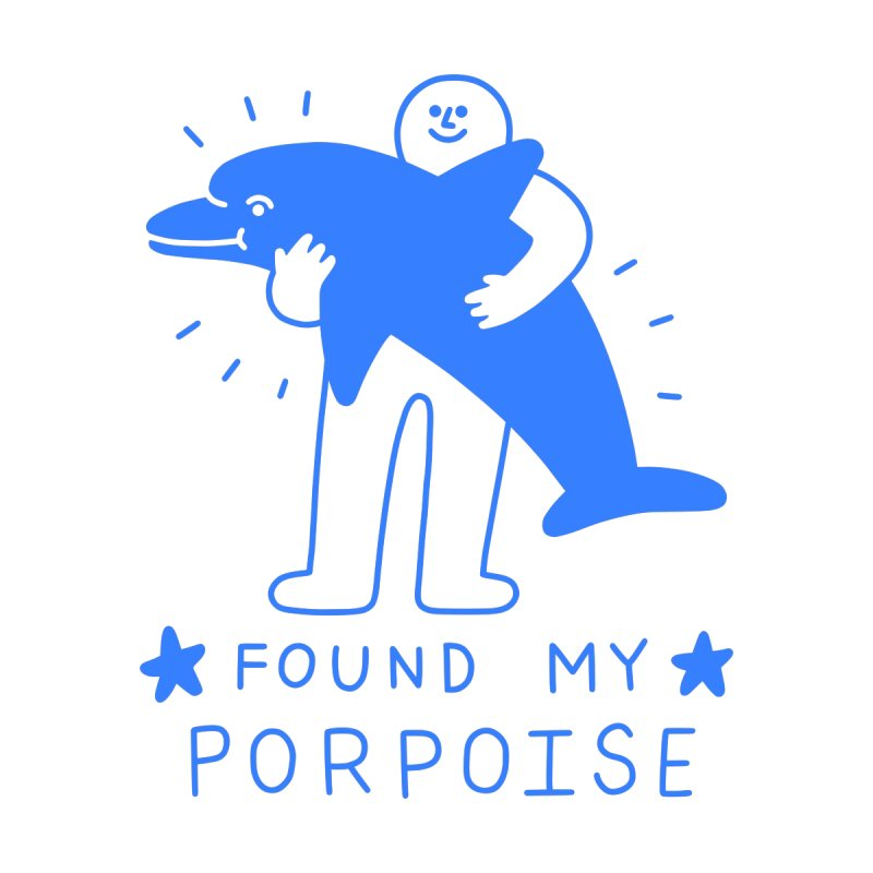 Found My Porpoise Kids Baby T-Shirt by obinsun