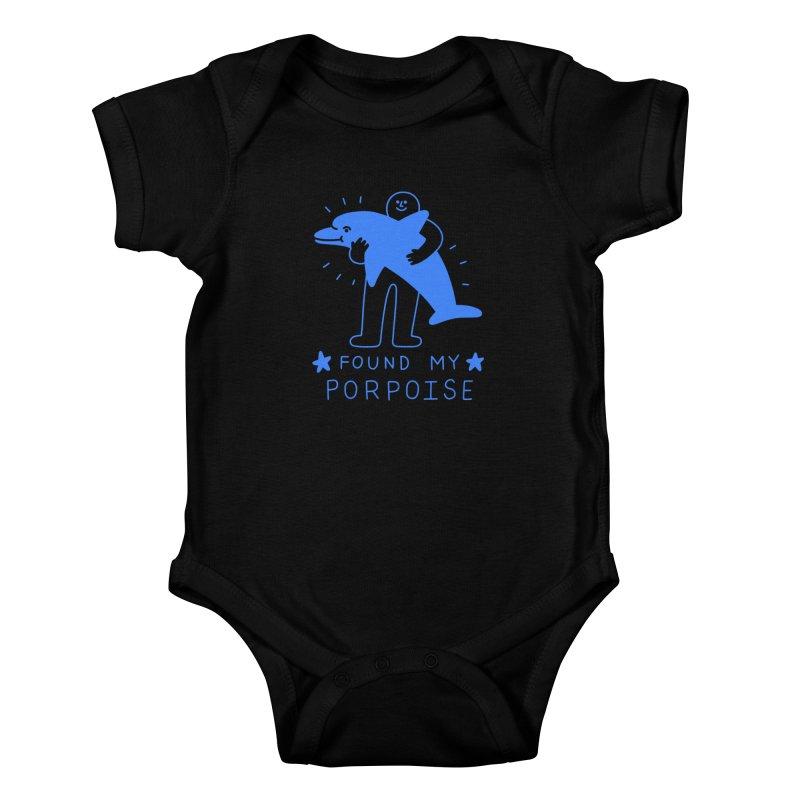 Found My Porpoise Kids Baby Bodysuit by obinsun