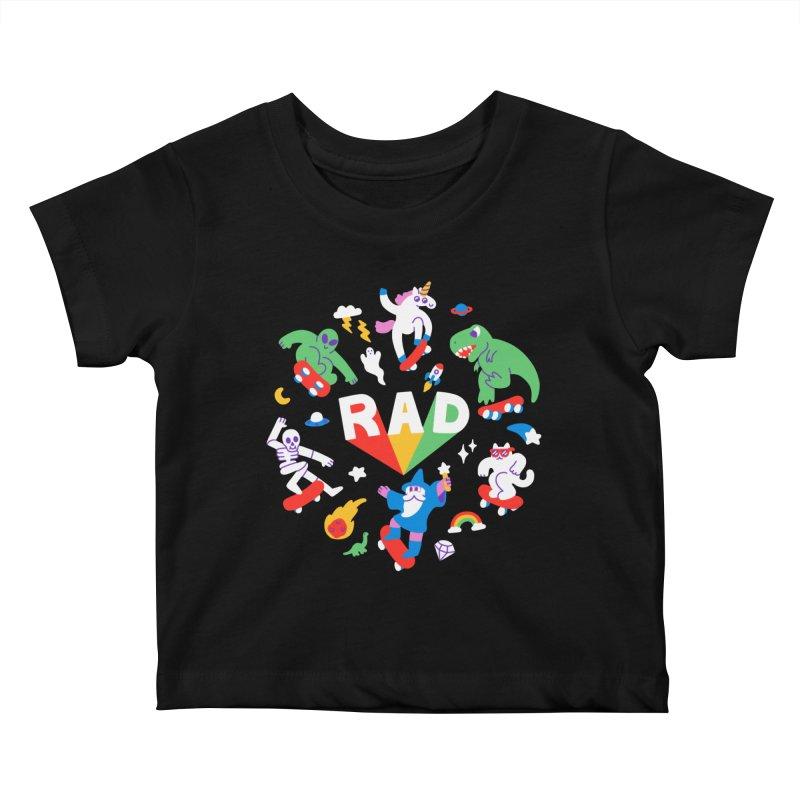 Rad Pals Kids Baby T-Shirt by obinsun