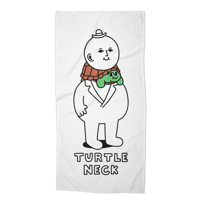 Turtleneck Accessories Beach Towel by obinsun