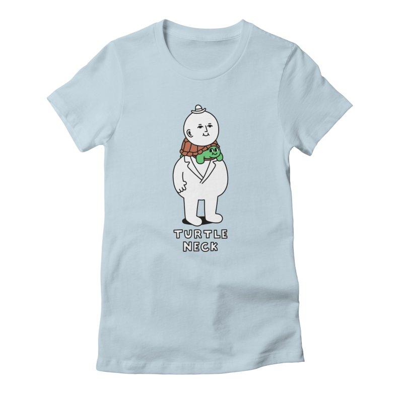 Turtleneck Women's T-Shirt by obinsun