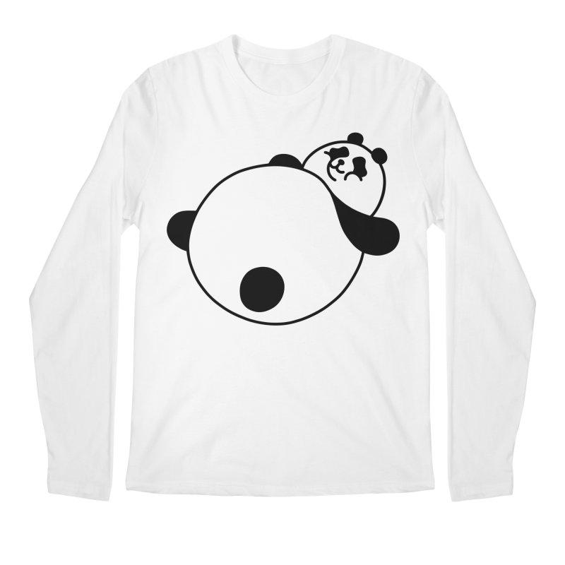 Large Panda Men's Longsleeve T-Shirt by obinsun