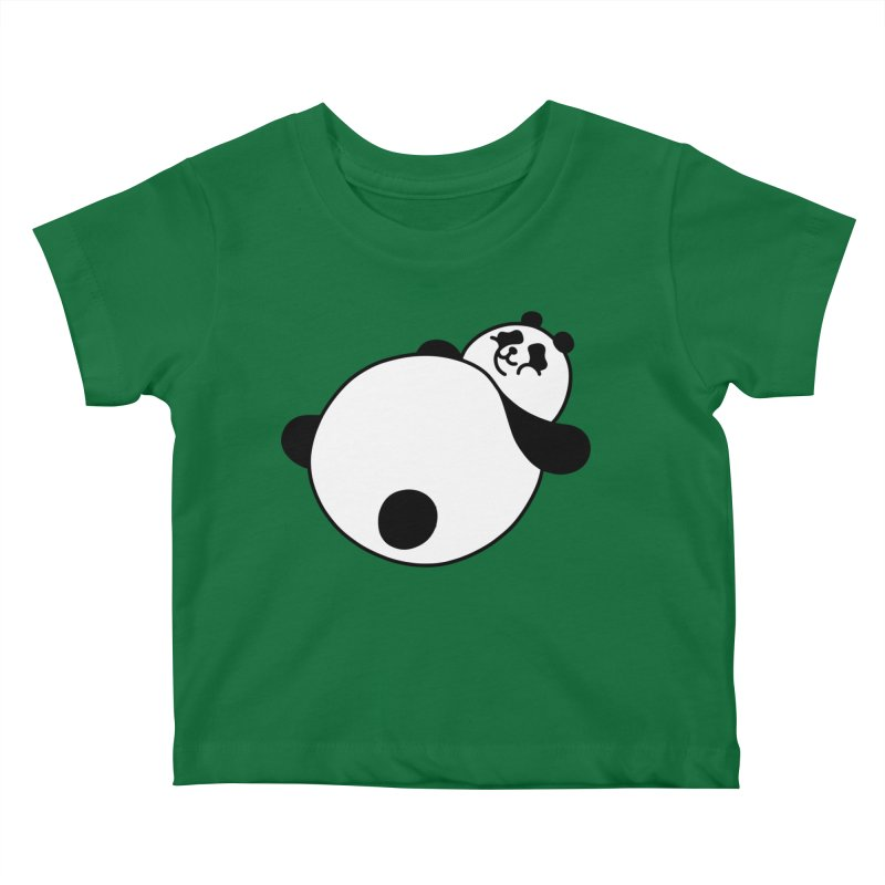 Large Panda Kids Baby T-Shirt by obinsun