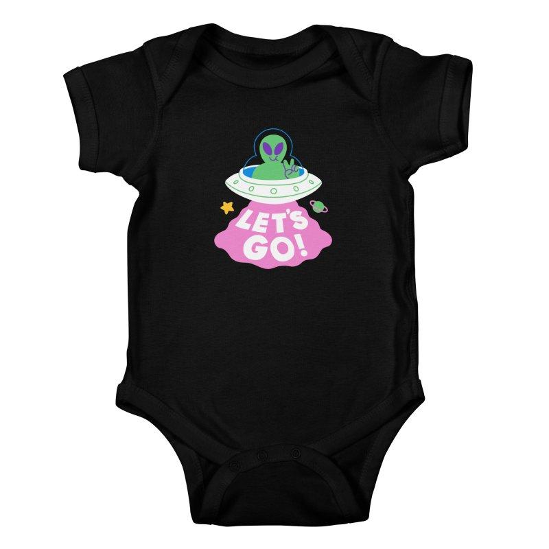 LET'S GO UFO Kids Baby Bodysuit by obinsun