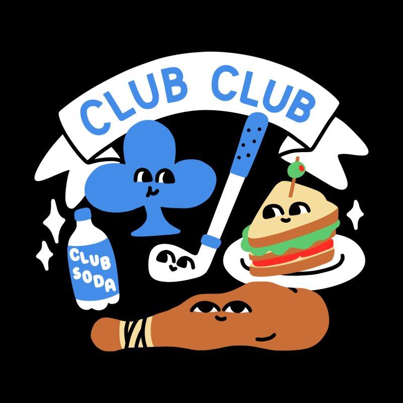Club Club (Cute Version) Home Throw Pillow by obinsun