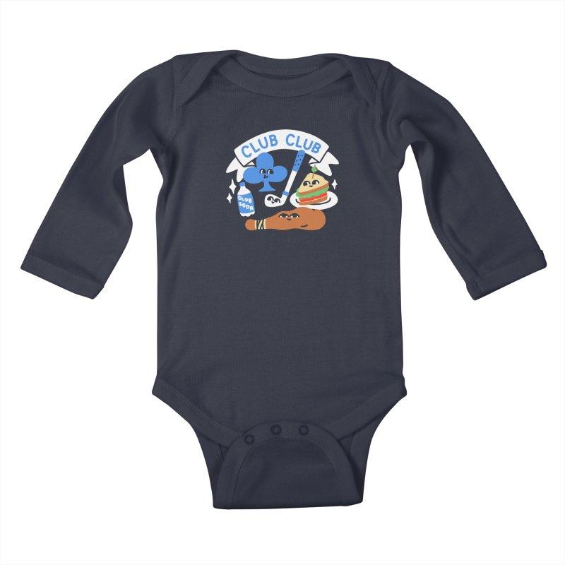 Club Club (Cute Version) Kids Baby Longsleeve Bodysuit by obinsun