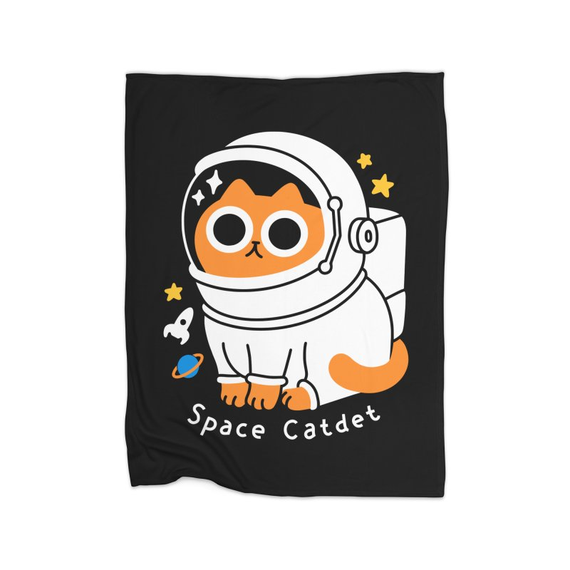 Space Catdet Home Blanket by obinsun