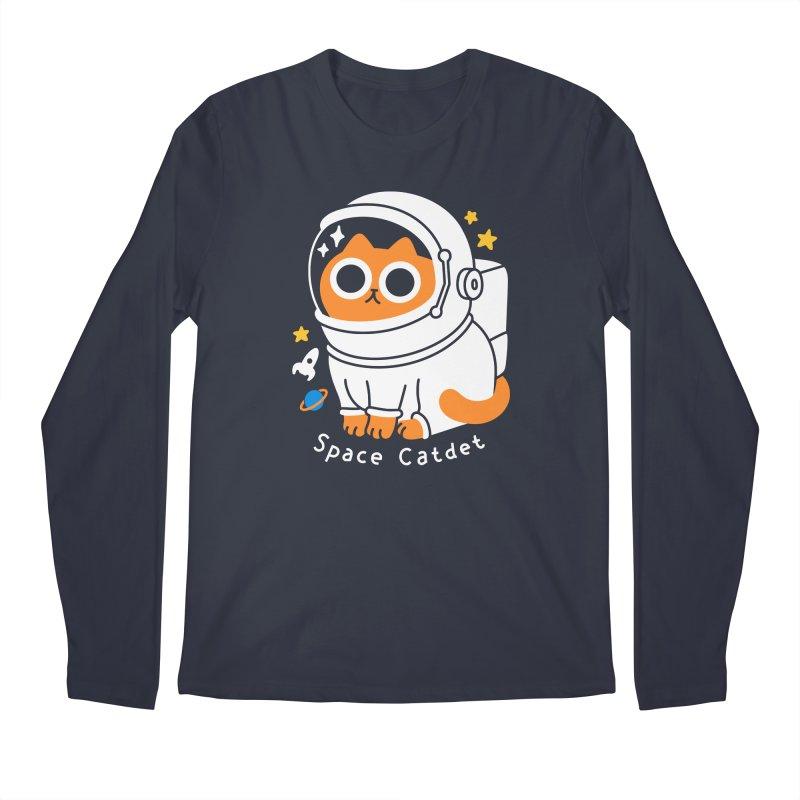 Space Catdet Men's Longsleeve T-Shirt by obinsun